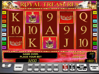 Royal Treasures на зеркале Франк Казино